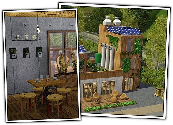 Sims 3 objects, cafe, eco, furniture