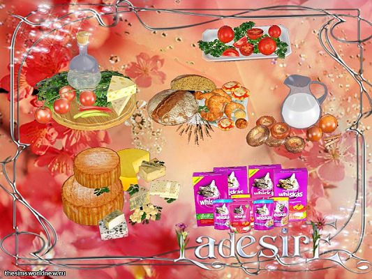 Sims 3 food, collection, object, set