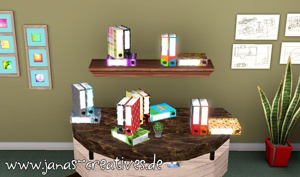Sims 3 folders, objects, decor