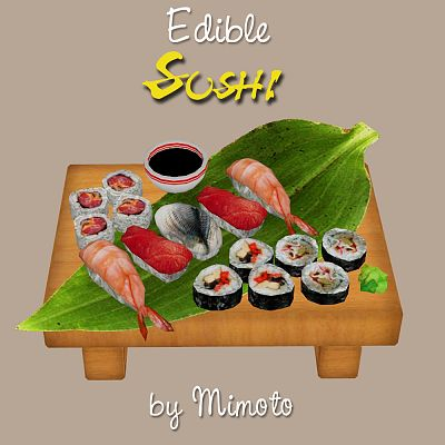 Sims 3 sushi, food, edible
