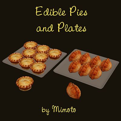 Sims 3 food, edible, pie