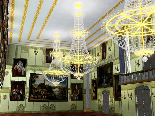 Sims 3 chandelier, light, object