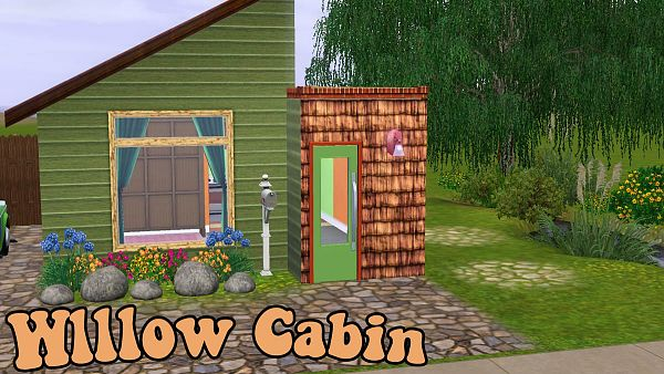 Sims 3 cabin, willow, house, lot, residential