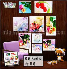 Sims 3 decor, paintings