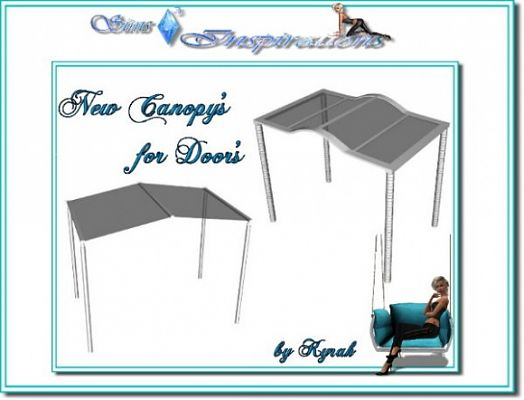 Sims 3 canopy, outdoor, set, objects
