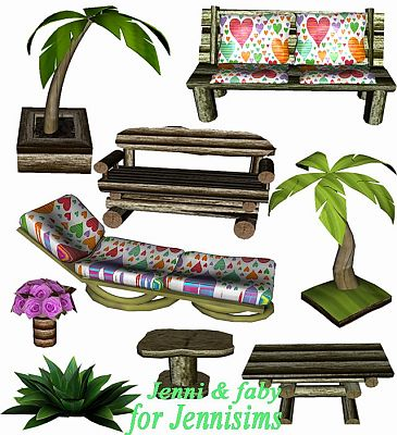 Sims 3 outdoor, furniture, decor, objects