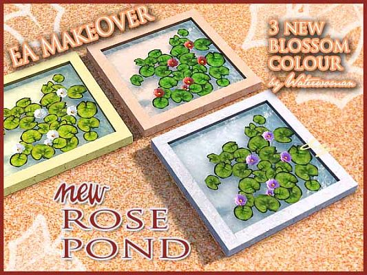 Sims 3 roses, pond, flowers, objects