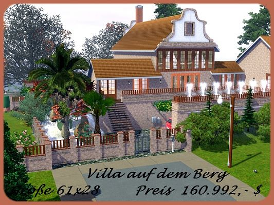 Sims 3 house, lot, residential, sims3, villa