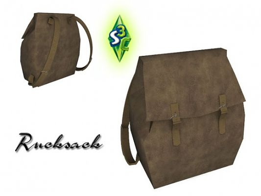 Sims 3 backpack, decor, object