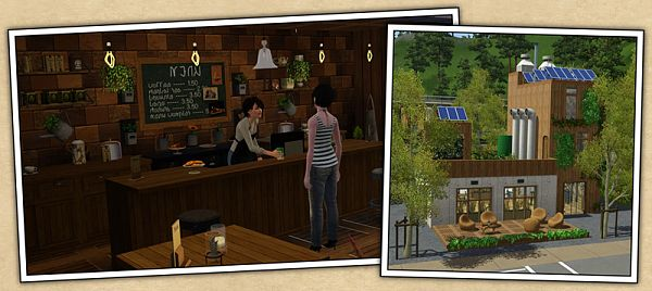 Sims 3 objects, decor, cafe, eco