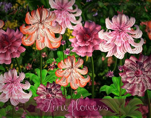 Sims 3 flowers, plants, outdoor