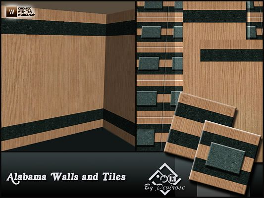 Sims 3 patterns, tile, walls