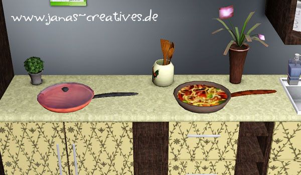 Sims 3 pan, kitchen, decor