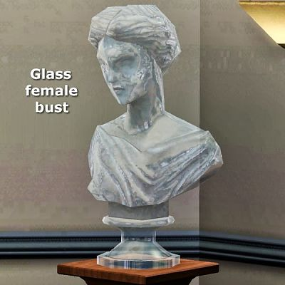 Sims 3 glass, statue, object, decor