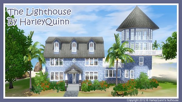 Sims 3 lighthouse, lot, residential
