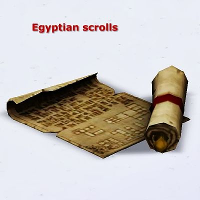 Sims 3 egyptian scrolls, decor, objects