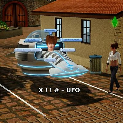 Sims 3 ufo, vehicle