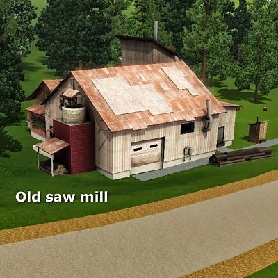 Sims 3 saw, mill, outdoor