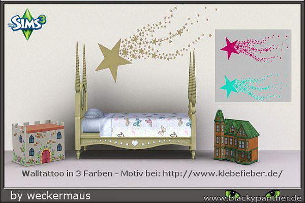 Sims 3 decals, wall, tattoos