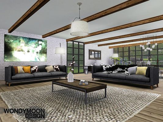 Sims 3 living, livingroom, furniture, set