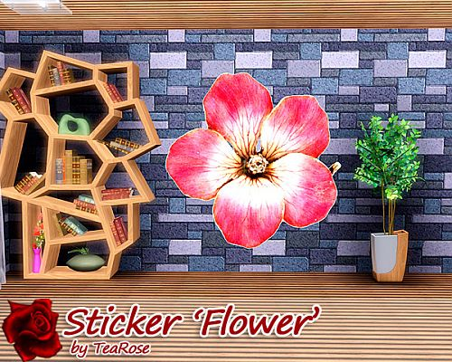 Sims 3 wall, wallpaper, decor, stencil, tattoo