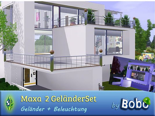 Sims 3 railing, set, build