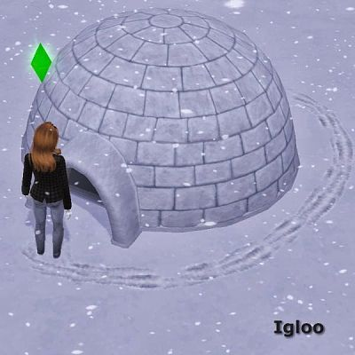 Sims 3 igloo, object