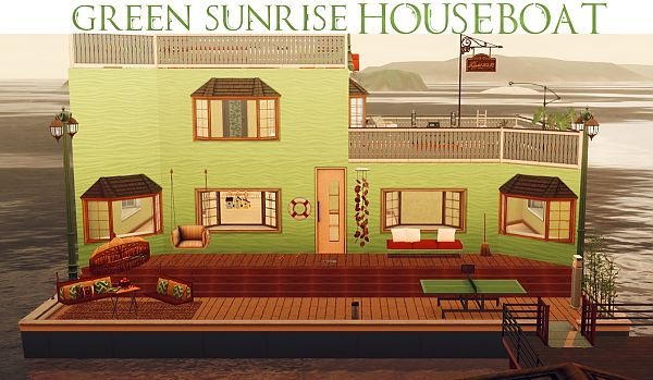 Sims 3 houseboat, lot, residential, sims3