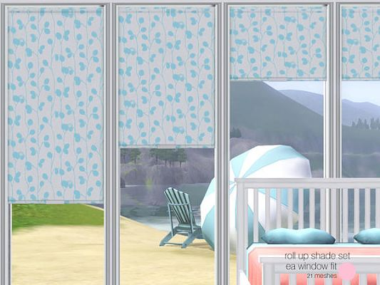 Sims 3 rollo, curtain, decor, set