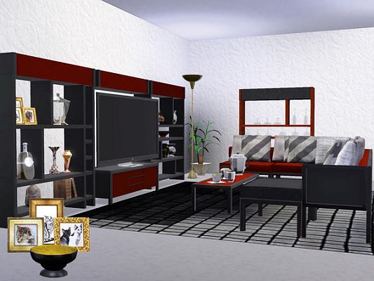 Sims 3 living, livingroom, furniture, sims 3