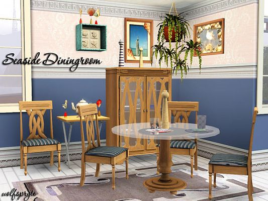 Sims 3 dining, diningroom, furniture