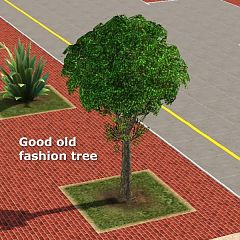 Sims 3 tree, object, plant, outdoor
