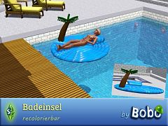 Sims 3 island, decor, pool