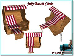Sims 3 chair, furniture, outdoor, beach