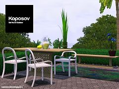 Sims 3 chair, furniture, outdoor, garden, set