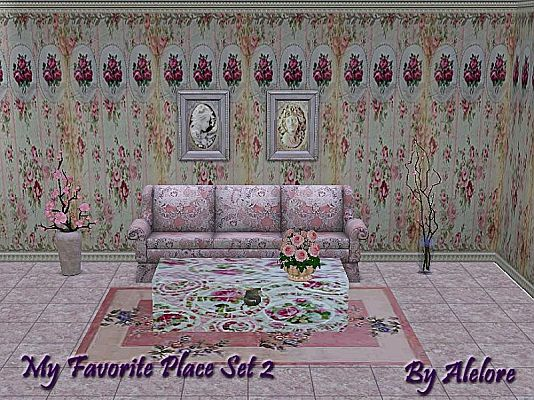 Sims 3 livingroom, objects, decorative