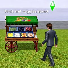 Sims 3 food, stand, table