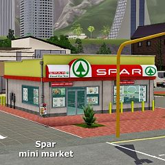 Sims 3 commercial, mini market, building, lot, sims3