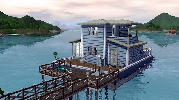 Sims 3 yacht, house, lot, residential