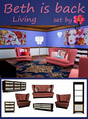 Sims 3 livingroom, furniture, objects, decorative, sims3