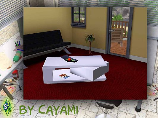 Sims 3 table, object, decor, livingroom, sims3