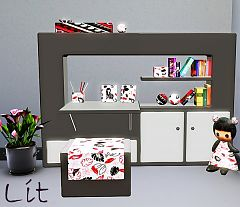 Sims 3 study, furniture, sims, room, kids