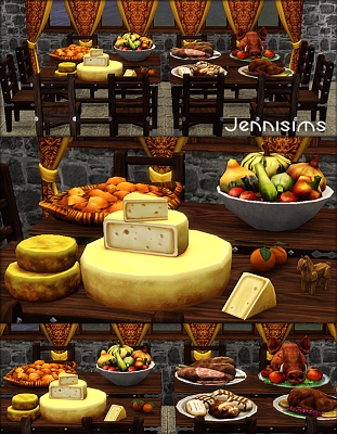 Sims 3 food, decor, objects