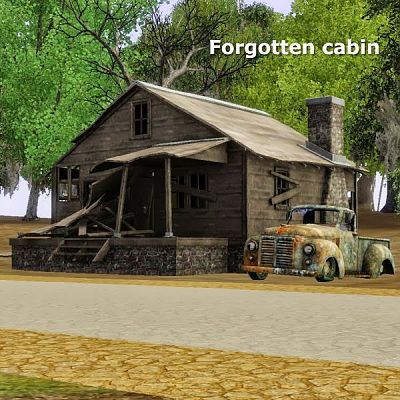 Sims 3 cabin, outdoor, object