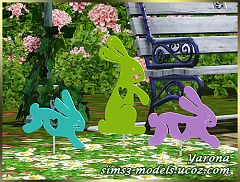 Sims 3 objects, decor, bunny