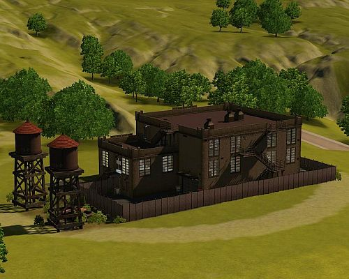 Sims 3 tombs, lot, community