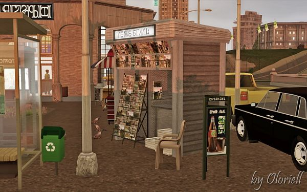Sims 3 lot, community, metro, subway