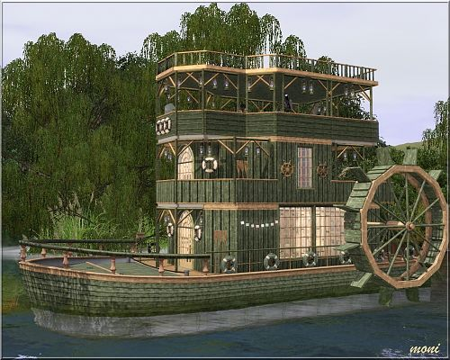 Sims 3 house, lot, residential, sims3, boat