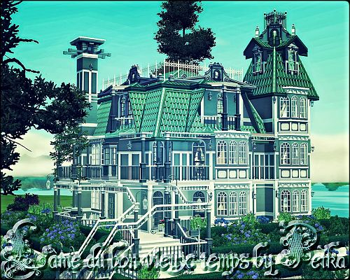 Sims 3 house, lot, residential, sims3, mansion, castle