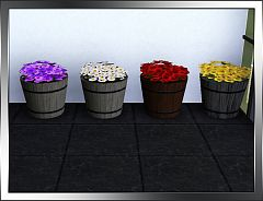 Sims 3 flowers, barrel, decor